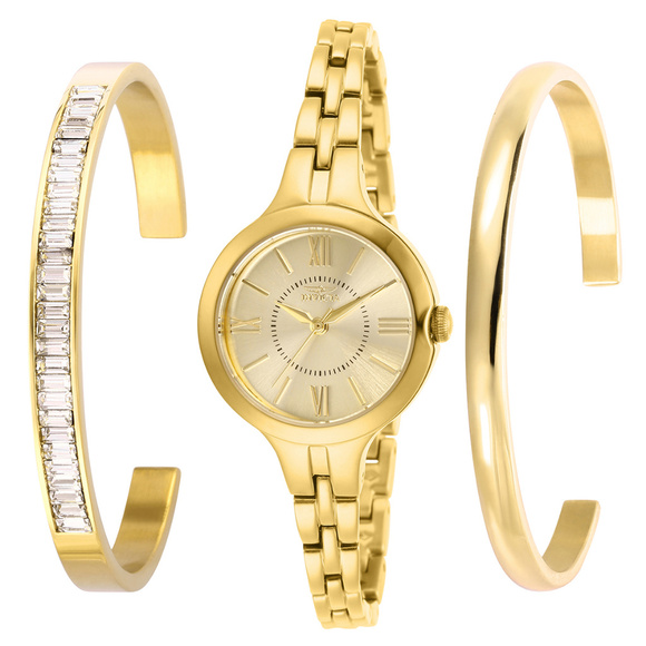 Invicta Accessories - Invicta Angel Gold Tone Watch W/2Crystal Bangles